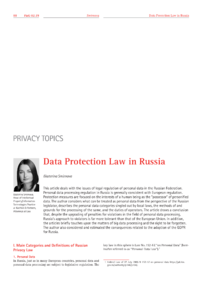 Dokument Data Protection Law in Russia