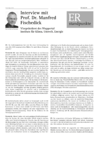 Dokument Interview mit Prof. Dr. Manfred Fischedick