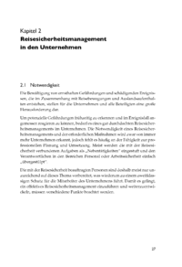 Dokument Reisesicherheitsmanagement in den Unternehmen