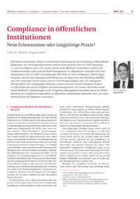Dokument Compliance in öffentlichen Institutionen