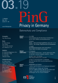 Dokument PinG Privacy in Germany Ausgabe 03 2019