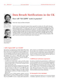 Dokument Data Breach Notifications in the UK
