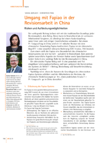 Dokument Umgang mit Fapiao in der Revisionsarbeit in China
