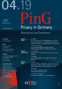Dokument PinG Privacy in Germany Ausgabe 04 2019