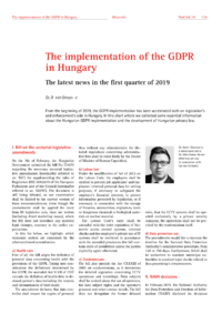 Dokument The implementation of the GDPR in Hungary