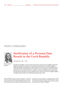 Dokument Notification of a Personal Data Breach in the Czech Republic