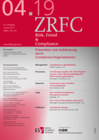 Dokument Risk, Fraud & Compliance Ausgabe 04 2019