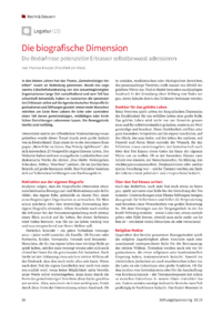Dokument Die biografische Dimension