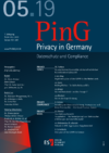 PinG Privacy in Germany Ausgabe 05 2019