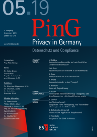 Dokument PinG Privacy in Germany Ausgabe 05 2019