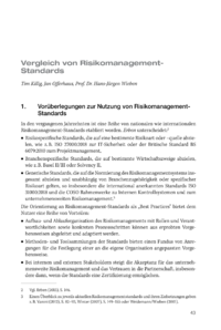 Dokument Vergleich von Risikomanagement- Standards