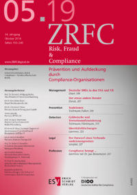 Dokument Risk, Fraud & Compliance Ausgabe 05 2019