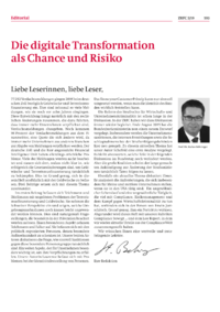 Dokument Die digitale Transformation als Chance und Risiko