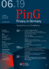 PinG Privacy in Germany Ausgabe 06 2019