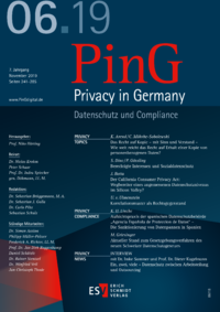 Dokument PinG Privacy in Germany Ausgabe 06 2019
