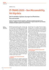 Dokument IT-TRANS 2020 – Von Micromobility bis big data