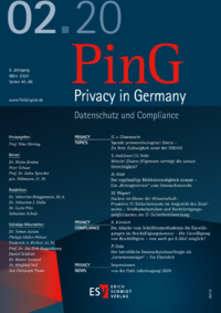 Dokument PinG Privacy in Germany Ausgabe 02 2020