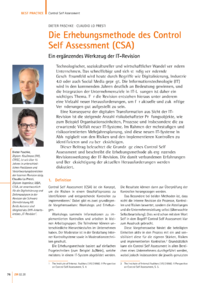 Dokument Die Erhebungsmethode des Control Self Assessment (CSA)