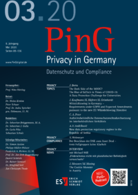 Dokument PinG Privacy in Germany Ausgabe 03 2020