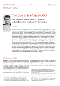 Dokument The Dark Side of the MOOC?