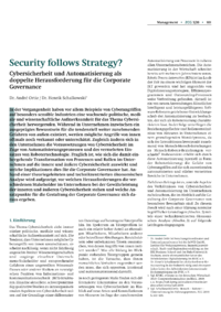 Dokument Security follows Strategy?