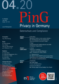 Dokument PinG Privacy in Germany Ausgabe 04 2020