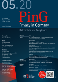 Dokument PinG Privacy in Germany Ausgabe 05 2020