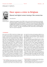 Dokument Once upon a crisis in Belgium