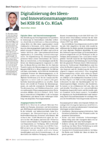 Dokument Digitalisierung des Ideen- und Innovationsmanagements bei KSB SE & Co. KGaA