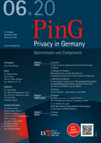 Dokument PinG Privacy in Germany Ausgabe 06 2020