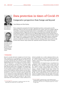 Dokument Data protection in times of Covid-19