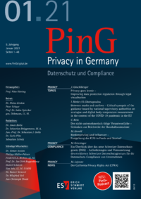 Dokument PinG Privacy in Germany Ausgabe 01 2021