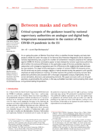 Dokument Between masks and curfews