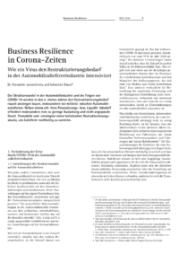 Dokument Business Resilience in Corona-Zeiten