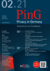 PinG Privacy in Germany Ausgabe 02 2021
