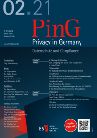 Dokument PinG Privacy in Germany Ausgabe 02 2021