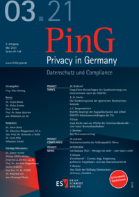 Dokument PinG Privacy in Germany Ausgabe 03 2021