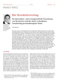 Dokument Der Newslettervertrag