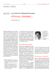 Dokument ePrivacy, reloaded …