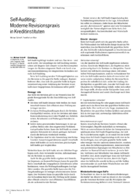 Dokument Self-Auditing: Moderne Revisionspraxis in Kreditinstituten