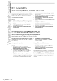 Dokument IIR IT-Tagung 2005 / Informationstagung Kreditinstitute