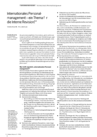 Dokument Internationales Personalmanagement – ein Thema für die Interne Revision?