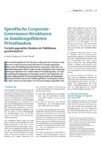 Dokument Spezifische Corporate-Governance-Strukturen in familiengeführten Privatbanken