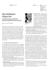 Dokument Der Sarbanes-Oxley-Act