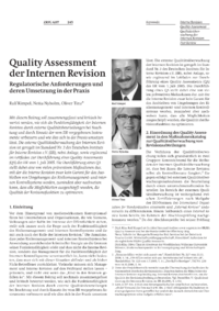 Dokument Quality Assessment der Internen Revision