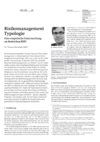 Dokument Risikomanagement Typologie
