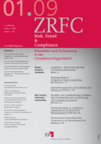 Dokument Risk, Fraud & Compliance Ausgabe 01 2009