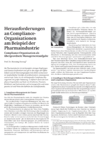 Dokument Herausforderungen an Compliance-Organisationen am Beispiel der Pharmaindustrie