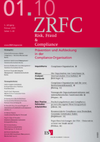 Dokument Risk, Fraud & Compliance Ausgabe 01 2010