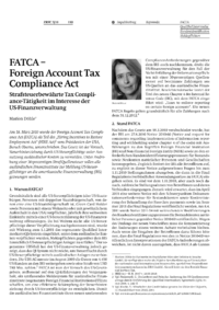 Dokument FATCA – Foreign Account Tax Compliance Act